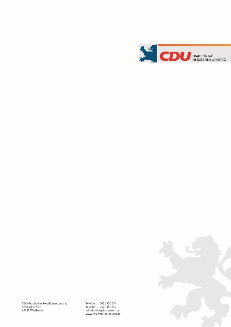 Ci Portal Der Cdu Fraktion Im Hessischen Landtag